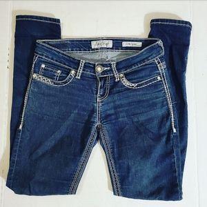 Day Trip Womens Thick Stitch Lynx Skinny Jeans •26